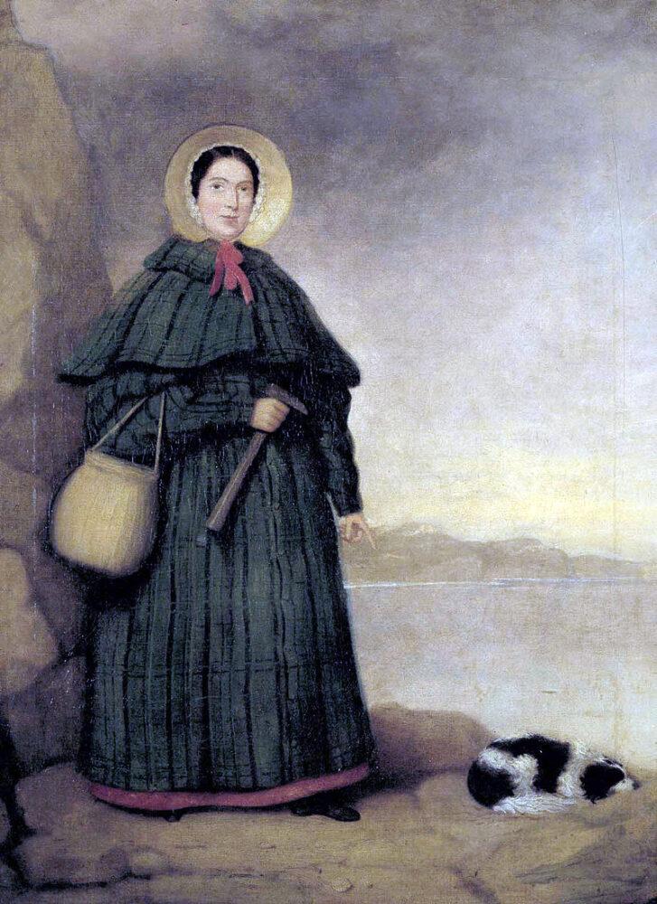 Мері Еннінг полює на скам'янілості зі своїм вірним собакою Треєм.